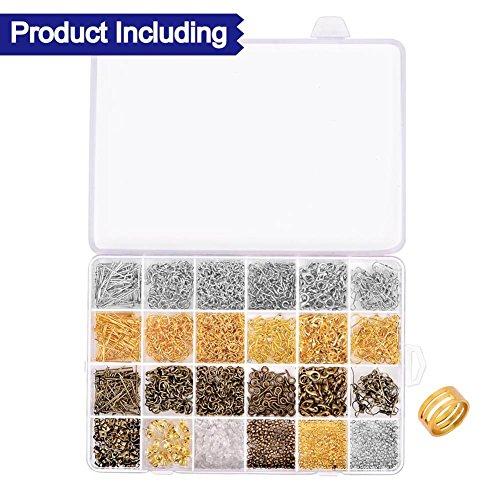 [해외]Paxcoo 2880 Pcs 쥬얼리는 Open Jump Rings, Lobster Claspps, Crimp Beads, Screw Eye Pins, Head Pins, Earing Hooks 및 Ea를 포함하는 Findings Supplies Kit를 제공합니다./Paxcoo 2880 Pcs Jewelry Making Findings Supplies Kit with Open Jum...