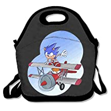 Sonic The Hedgehog Lunch Bag Lunch Tote, Waterproof Outdoor Travel Picnic Lunch Box Bag Tote With Zipper And Adjustable Crossbody Strap