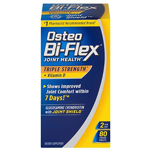 Osteo Bi-Flex Triple Strength + Vitamin D, Coated Tablets 80 ea (Pack of 6) by SUNDOWN VIT