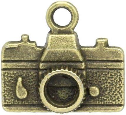 Camera Charm//Pendant Tibetan Steampunk Antique Bronze 23mm  3 Charms Accessory