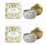 LA JOLIE MUSE Soy Candles Vanilla Coconut Scented 2 Pack, 100% Natural Vegan Wax Travel Tins, Gift Candles