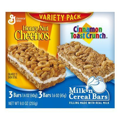General Breakfast Bar Milk 'n Cereal Variety Pack 9OZ (Pack of 20) by General Mills