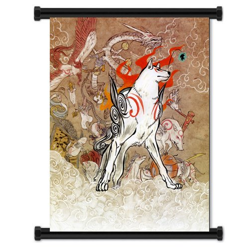 Okami Game Fabric Wall Scroll Poster  Inches