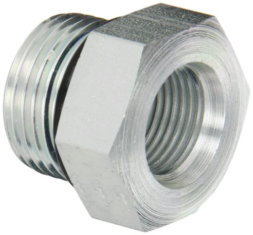 Thread O-ring (Eaton Weatherhead 7033X12X8 Carbon Steel Straight Thread O-Ring Adapter, Adapter, 3/4