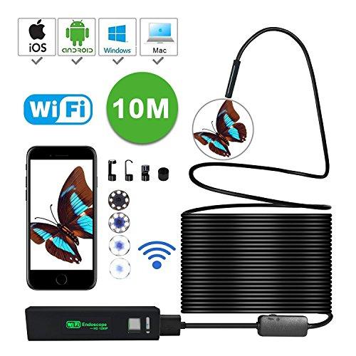 Waterproof Wireless Endoscope, KOBWA WiFi Borescope Inspe...