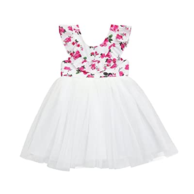0-6 Years Old Girls,Yamally_9R Toddler Girls Backless Tutu Dress Outfit