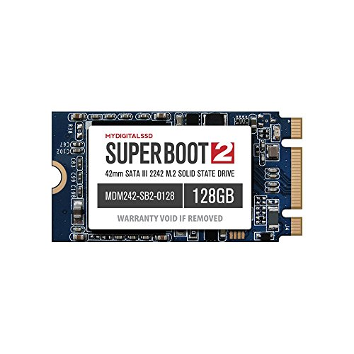 MyDigitalSSD 128GB Super Boot 2 (SB2) 42mm M.2 2242 NGFF SATA III (6G) SSD Solid State Drive (128GB 2242) by MyDigitalSSD