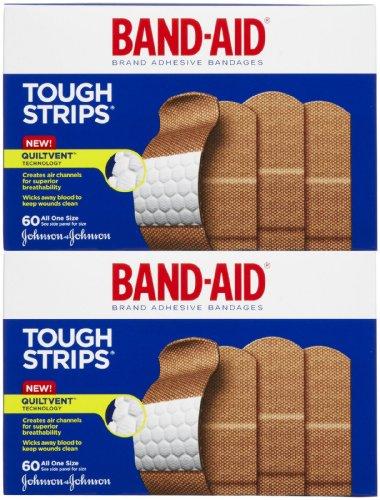 Band-Aid Tough Strips, 60ct AOS, 2 pk