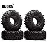 """4PCS 1.9"""" Rubber Tyre / Wheel Tires for 1:10 RC Rock Crawler Axial SCX10 90046 Tamiya CC01 RC4WD D90 D110"""