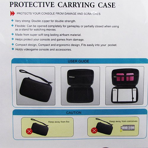 PlayTech Protective Carrying Case for Nintendo DSi & DS Lite (Black)