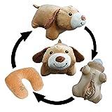 Yzakka Convertible Neck Pillow U Shaped Travel Pillow Stuffed Plush Toy Animal Dog