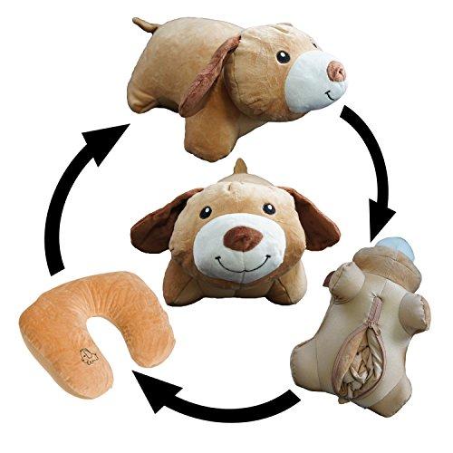 Yzakka Convertible Neck Pillow U Shaped Travel Pillow Stuffed Plush Toy Animal Dog by Yzakka
