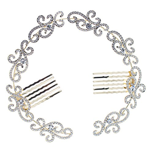 PROHAIR Flower Austrian Crystals Dancer Bun Hair Combs Hairpins Women's Girl Wedding Hair Accessories Gift - Scunci Hair Dryer