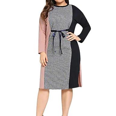 b919a3d00e2e4 Amazon.com  Clearance Sale! Oliviavan Women s Casual Plus Size Dress Long  Sleeve Mini Evening Party Dress  Clothing