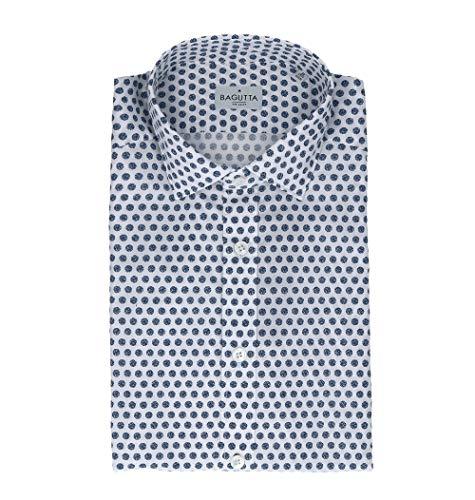 Bagutta Men's Berlinoebl08972652 White Cotton Shirt