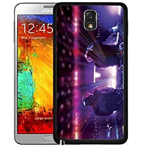 Dj Booth Turntable in Club with Colorful Lights Music Hard Snap on Cell Phone Case Cover Samsung Galaxy Note 3 N9000