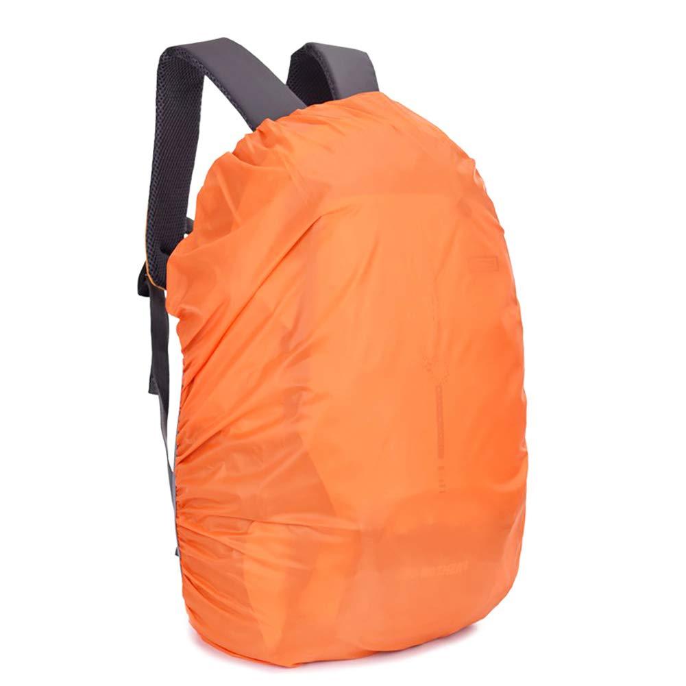 70L Mochila Cubierta Impermeable para Bolsos de Escuela Actividades al Aire Libre Bolsas de Equipaje Lluvia Bolsas Cubierta de Polvo Naranja