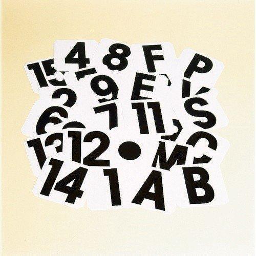 Stubbs Lettere Adesive H Nerobianco Amazonit Abbigliamento