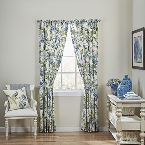 WAVERLY Curtain Drapes for Living Room - Floral Engagement 84