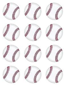 Baseball Edible Cupcake Toppers Decoration
