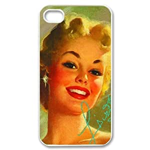 Marilyn Monroe Carrying Case for iPhone 4 4S Case DIY Cell Phone Case-White AQ361025