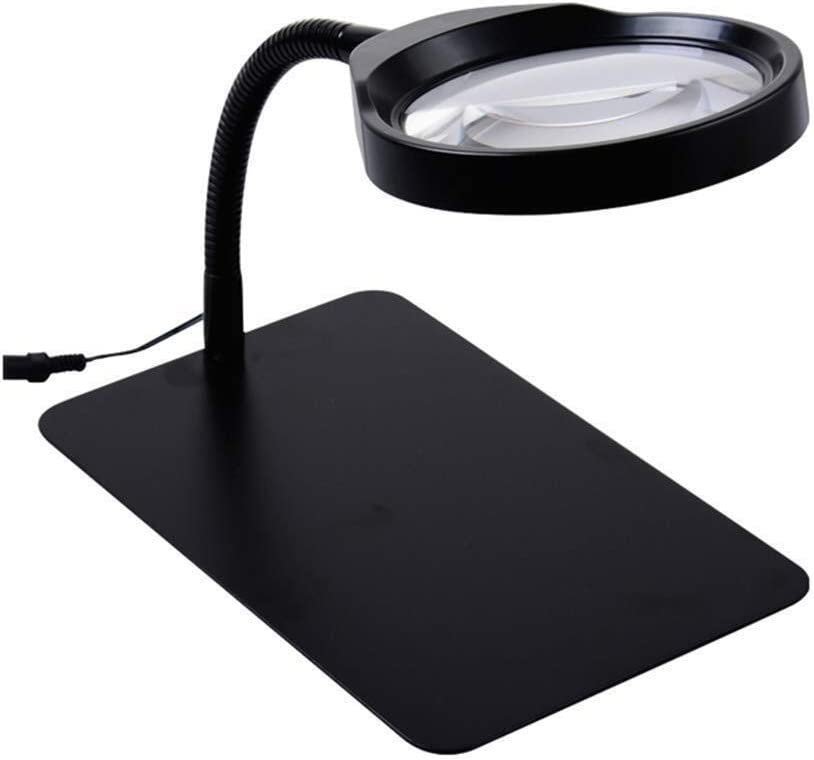 36 Led Light Hd 10X Magnifying Glass with 120Cm Power Cord for The Elderly /& Students Ideal Reading Small Prints Newspaper Learning Map Multipurpose pers Handheld magnifier 10X Desktop Lamp Magnifier