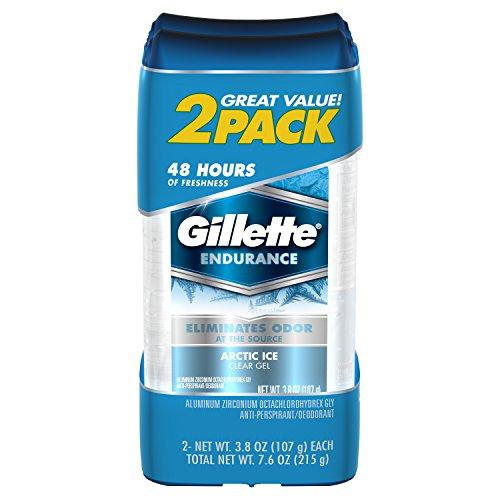Gillette Clear Gel Arctic Ice Antiperspirant and Deodorant, 3.8 oz 2 ct