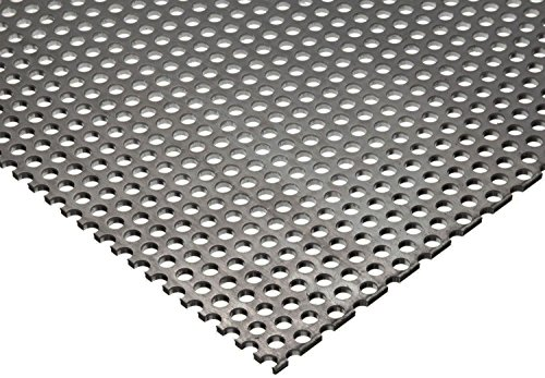 Online Metal Supply 304 Stainless Steel Perforated Sheet .035'' (20 ga.) x 24'' x 48'' - 1/8'' Holes by Online Metal Supply