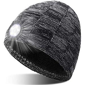 51ScqrmqVWL. SS300 Geschenke für Männer Mütze mit LED Licht - Papa Männer Geschenkideen Weihnachten LED Mütze, Praktische Geschenke für…