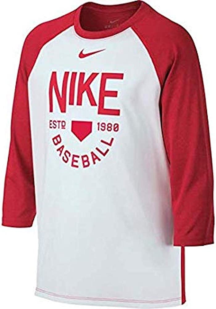 Nike Boys Dry Fit Legend Raglan Baseball Training Shirt