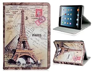 CECT STOCK Eiffel Tower Print Caso del tirón del cuero del Faux para la Mini iPad