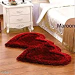 Ruhal Fabb Solid Contemporary Carpet (Maroon, Polyester, Standard)