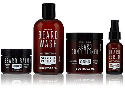 Scotch Porter - Beard Collection. Men's Beard Kit with Premium Beard Wash, Conditioner, Balm, and Smoothing Serum (3 month supply) by Scotch Porter