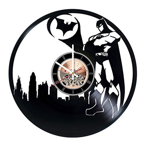 Batman 1966 Costume For Kids (Batman DC Vinyl Record Wall Clock - Bedroom Home Room wall decor - Gift ideas for boys and girls – Superhero Unique Art Design)