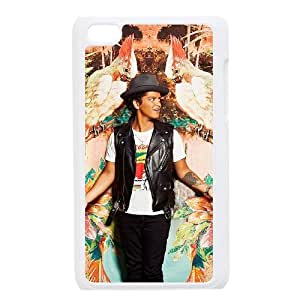 Ipod Touch 4 2D Personalized Hard Back Durable Phone Case with Bruno Mars Image
