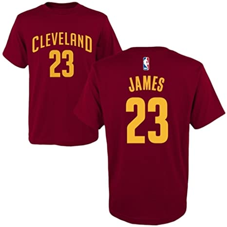 353a1fec4 Amazon.com : adidas Lebron James Cleveland Cavaliers Garnet Youth Name and Number  Jersey T-Shirt Small 8 : Sports & Outdoors