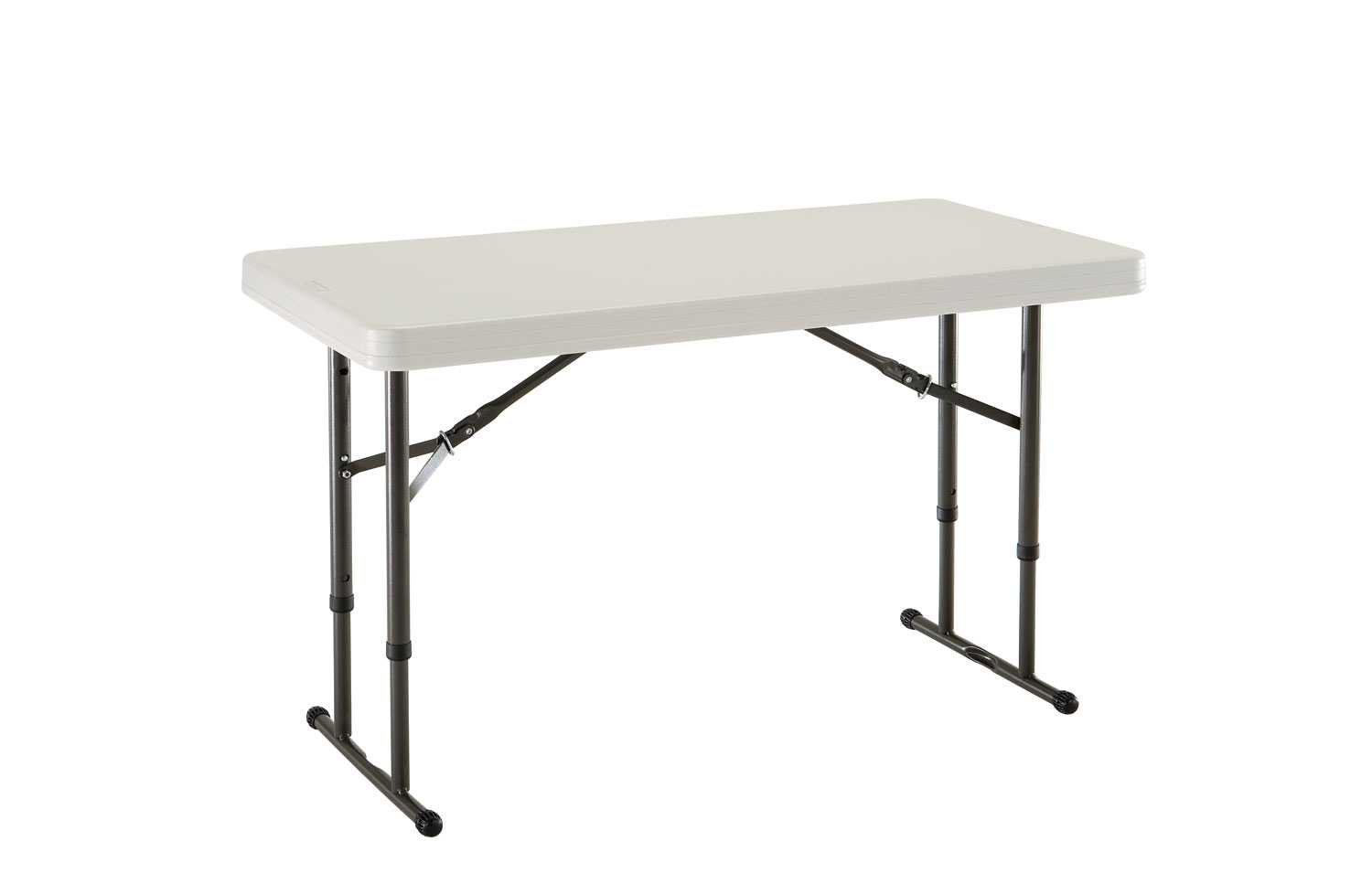 4 foot adjustable height folding table - Amazon Com Lifetime 80161 4 Foot Commercial Adjustable Height Folding Table Almond Tabletop With Bronze Frame Kitchen Dining