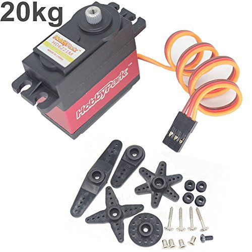 Hobbypark digital high torque 20kg servo motor metal gear for 100 kg servo motor