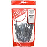 TIMco 08100CSCNB Coach Screw and Nylon Plugs 8 x 100 - Zinc (Bag of 12) by TIMco
