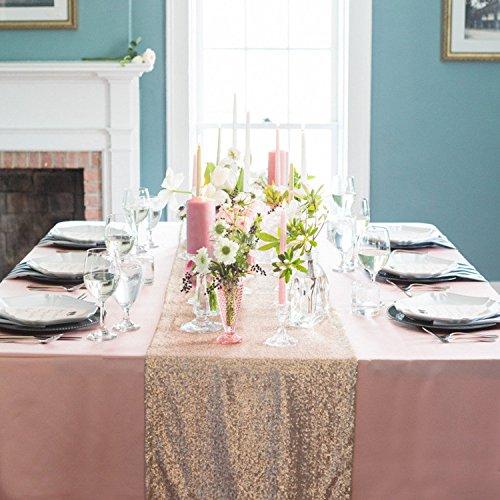 Champagne Sparkly Sequin Wedding Reception