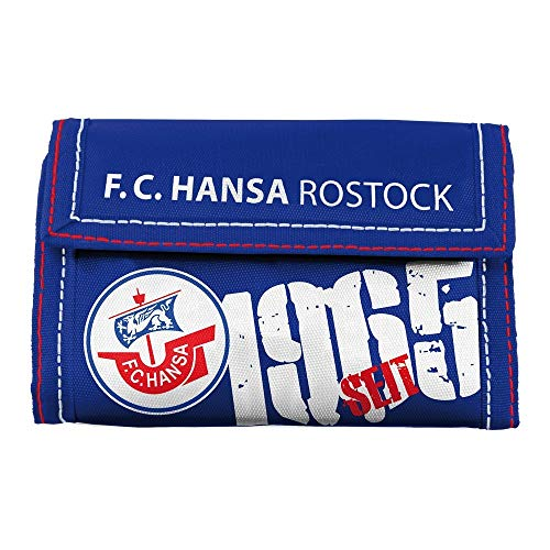 F.C. Hansa Rostock - Monedero (Nailon), Color Azul: Amazon ...