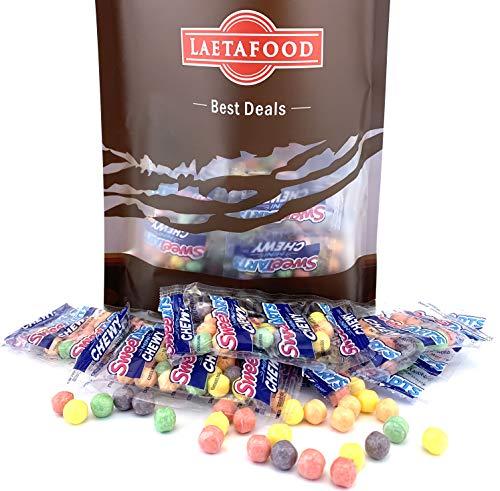 LaetaFood Bundle - Sweetarts Mini Chewy Snack Packs, Bulk Pack (Pack of 2 Pounds) - Tart Lemon Mini