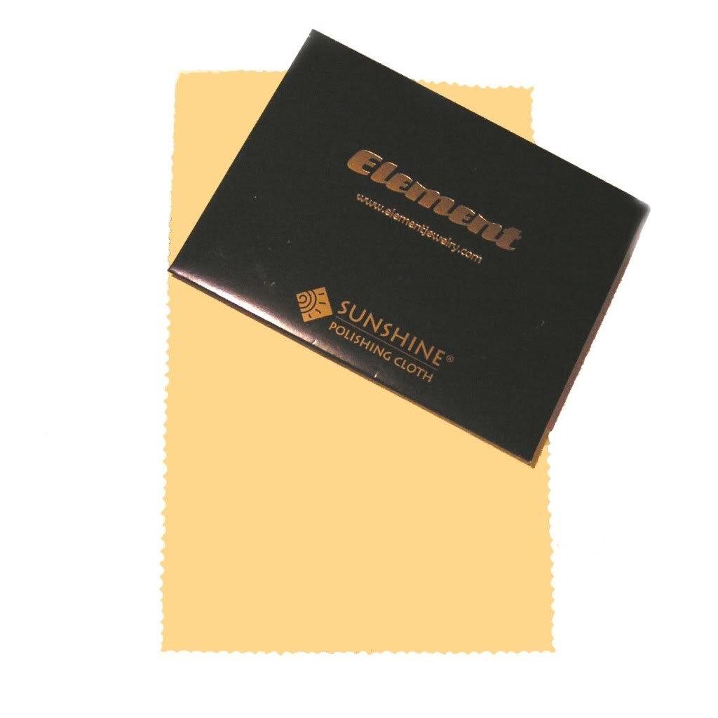 Element Jewelry Sunshine Polishing Cloth- 5 x 8 Double-Sided [Jewelry] 809
