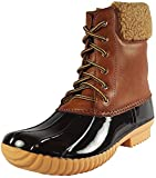 Nature Breeze Ladies Duck-02 Lace Up and Zipper Waterproof Insulated Boot (7, Tan)