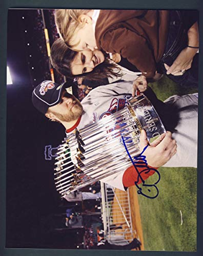 Eric Bruntlett Phillies Signed/Autographed 8x10 World Series Photo 125509
