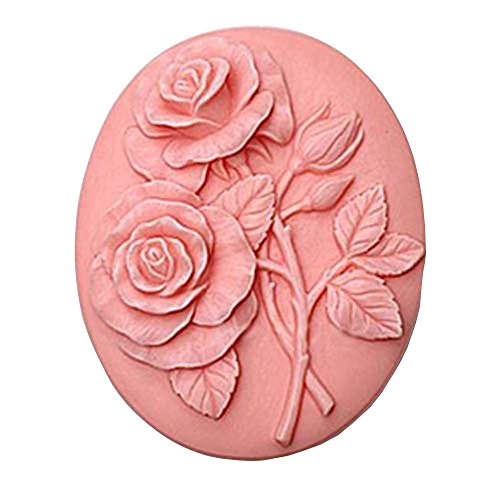 New Arrivals Heart (New Arrival Oval Shaped Soap Mold Soap Making Tool with Rose Design on it)