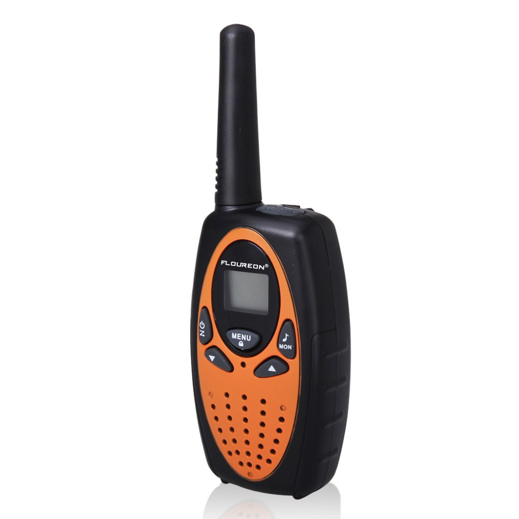 FLOUREON 4 Packs Walkie Talkies Two Way Radios 22 Channel 3000M (MAX 5000M open field) UHF Long Range Handheld Talkies Talky (Orange) by floureon (Image #3)