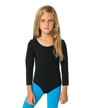cheap for discount 92e52 45a4a elegance1234 Mädchen Baumwolle Langarm Trikots dehnbar  Tanz/Gymnastik/Ballett Sport Farbe & Größen ref 3350