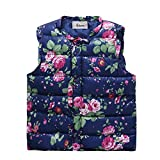 Timall Baby Girls Floral Print Waistcoat Toddler