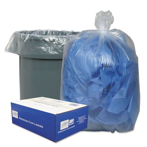 Clear Low-Density Can Liners, 30 gal, .6 mil, 30 x 36, Clear, 250/Carton